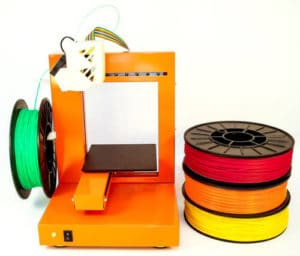 3D printer met spoelen filament